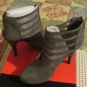 Guess Gray Suede Booties, NIB